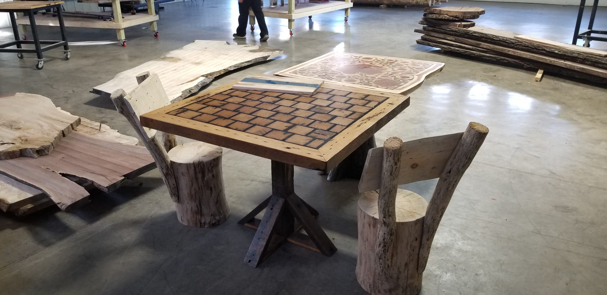 custom table and chair set
