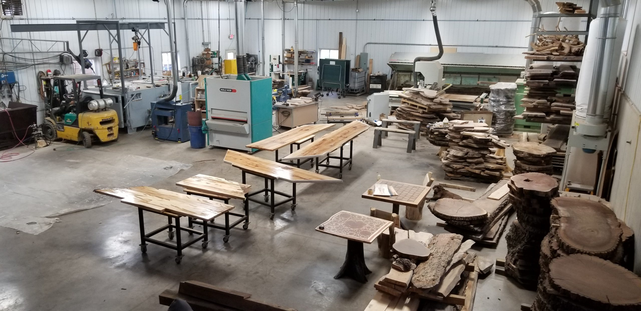 overview of woodshop