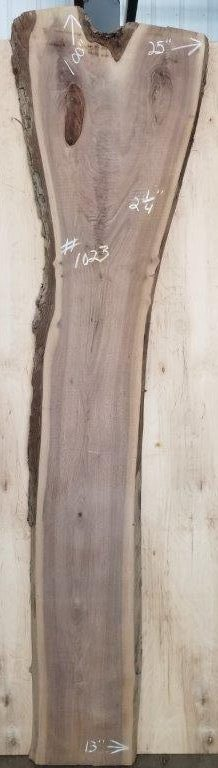 walnut slab cut